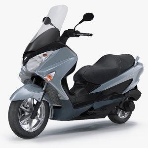 3D scooter motorcycle suzuki burgman