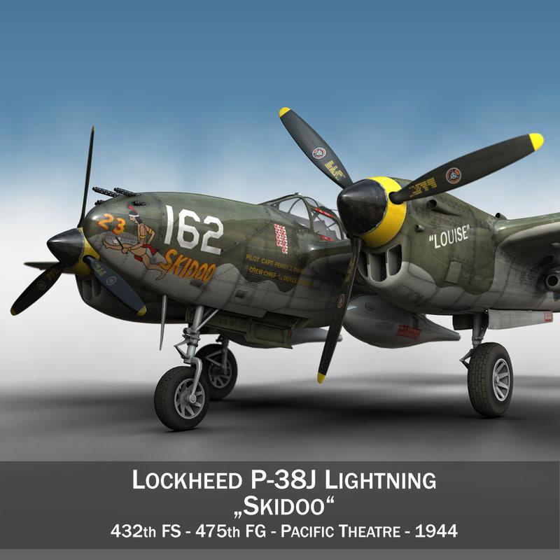 3D lockheed lightning - skidoo