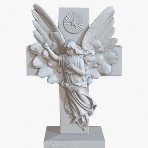 sculpture angel cross 1m model