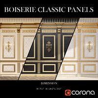 3D model boiserie classic panels decorative