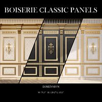 Boiserie classic panels and Decorative Crafts Wood Sconce - 1850