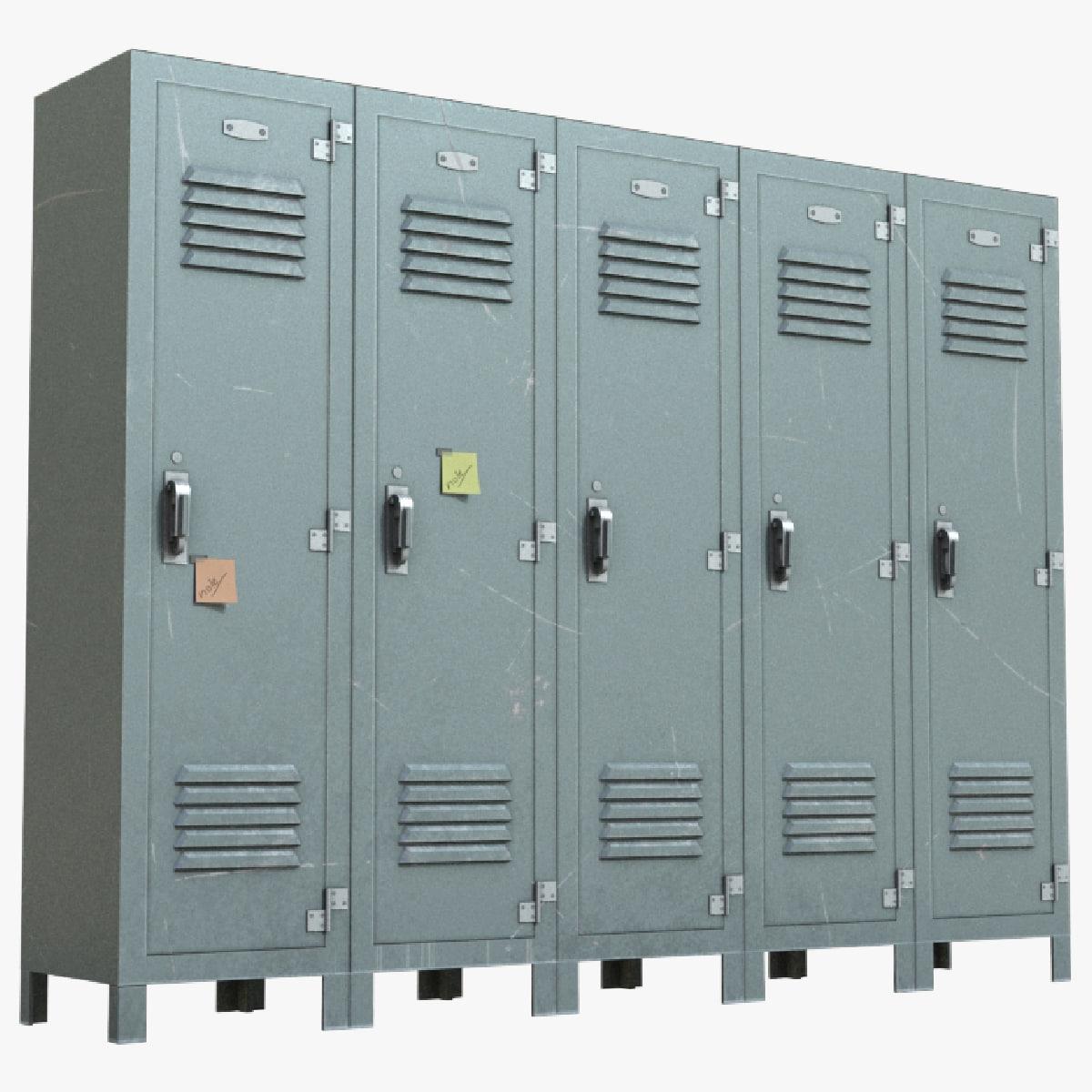 locker polys unreal 3D model