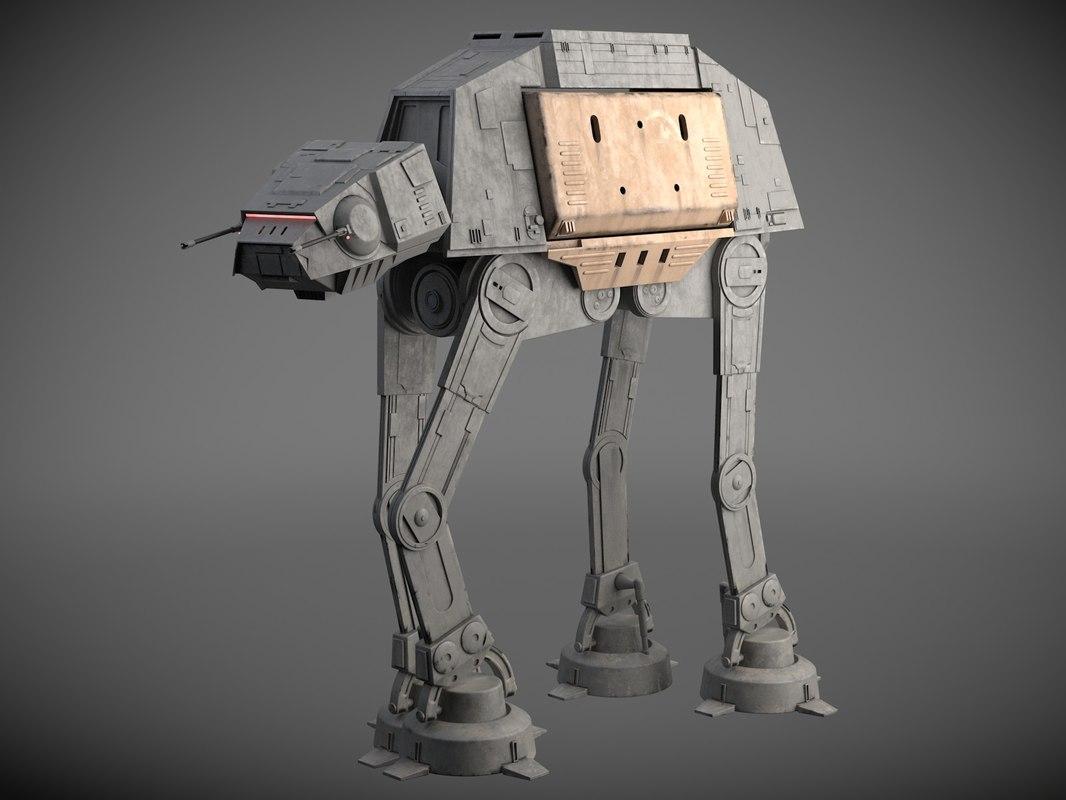 star wars at-act 3D model