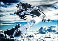 concept jet fighter model