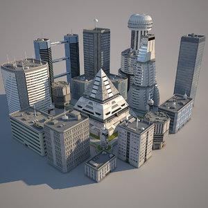 block city buildings model