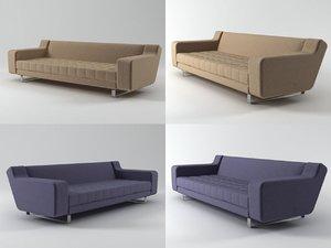3D 3-seat sofa