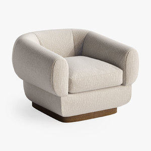 baker obi lounge chair 3D