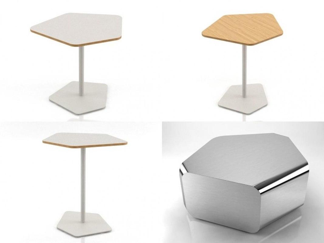 pebble tables 3D