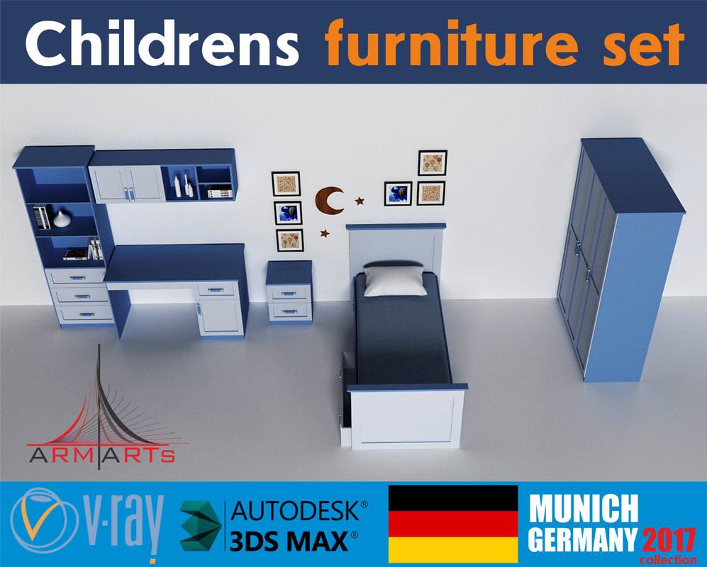 furniture boys girls 3D model