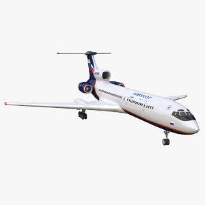 tu-154m aeroflot 3D