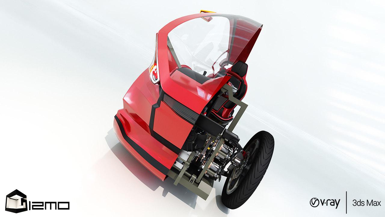 3D mechanical vehicle model
