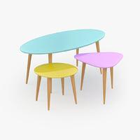 retro table 3D model