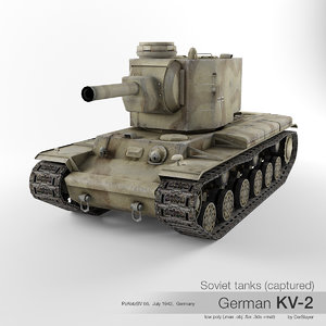 kv-2 soviet tanks 3D model