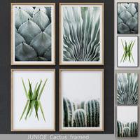 3D juniqe cactus framed