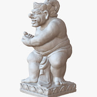sculpture bali man 1m 3D model
