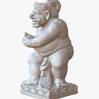 sculpture bali man 1m 3D model