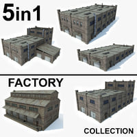 5 In 1 Factory Building Collection