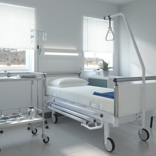 realistic hospital ward 3D