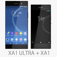 sony xperia xa1 black 3D model
