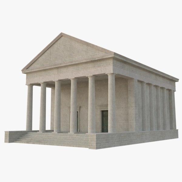 greek temple 1 3D model