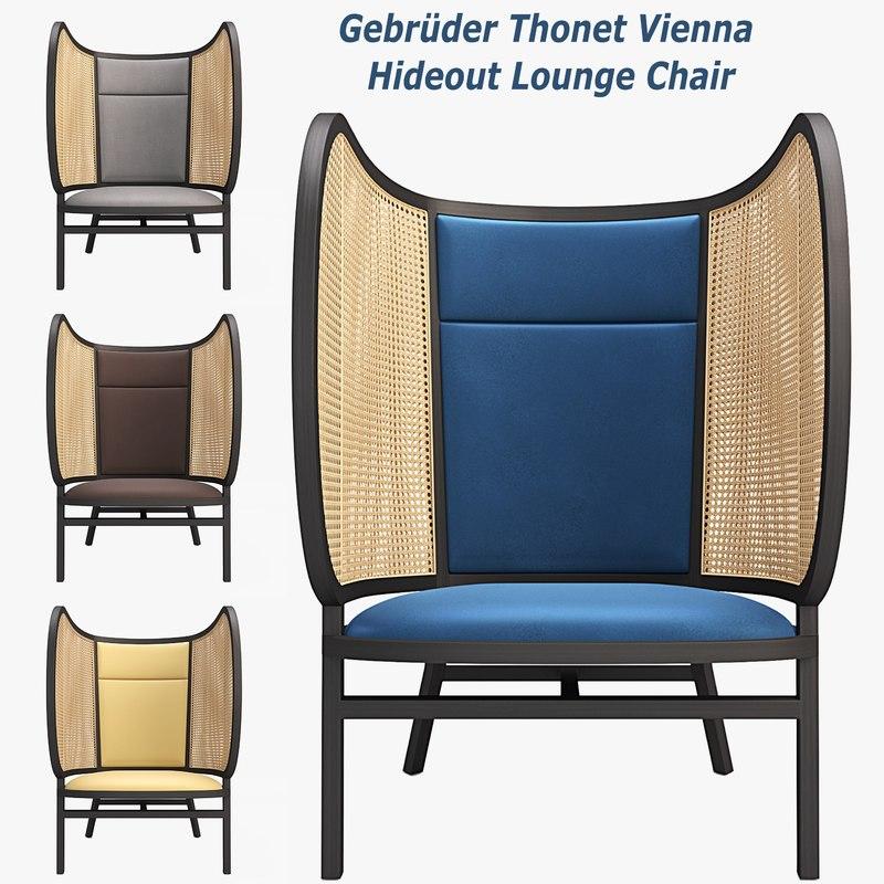 hideout lounge chair 3D