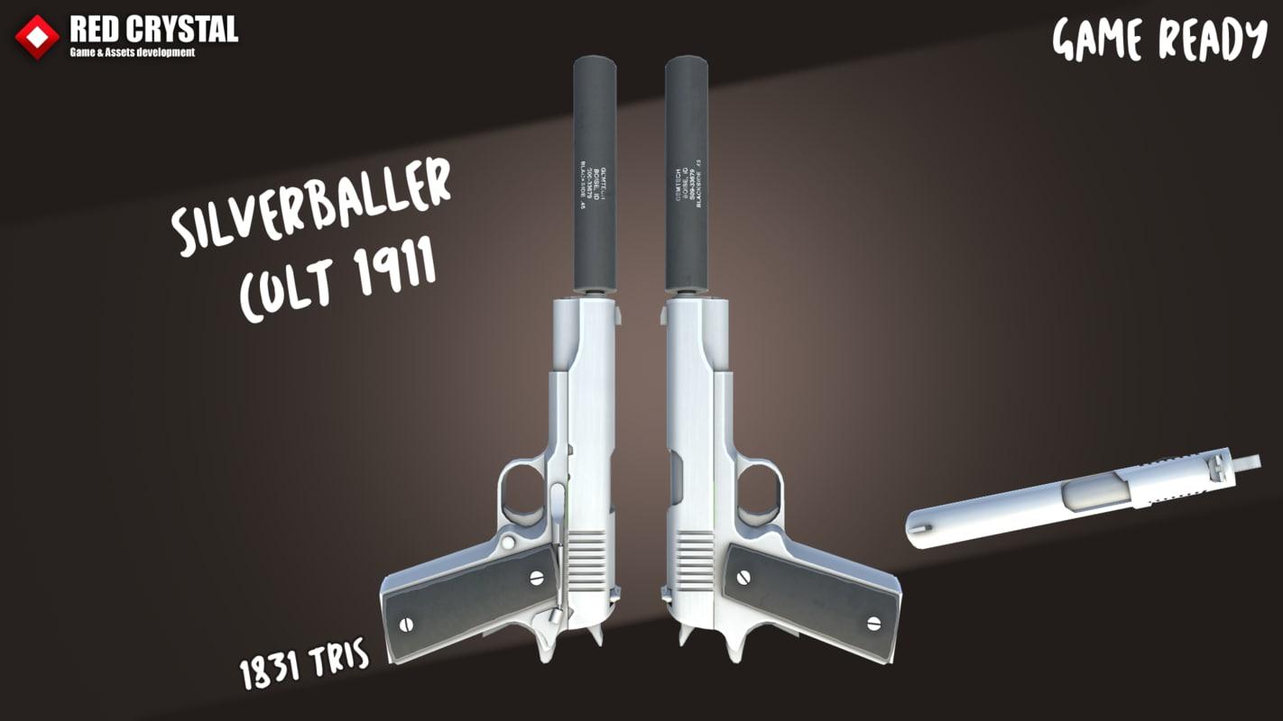 3D colt 1911 9 model