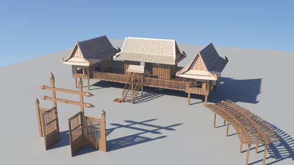thai house 3D model