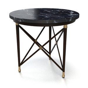 3D model end table
