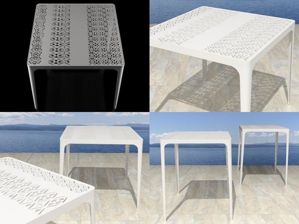 sunrise tables 3D model