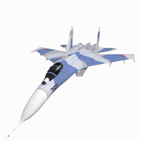 sukhoi su-27 flanker 3D model