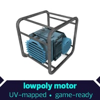 Small Generator Lowpoly