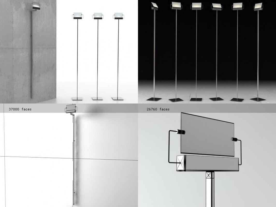 floor wall lamp 3D model