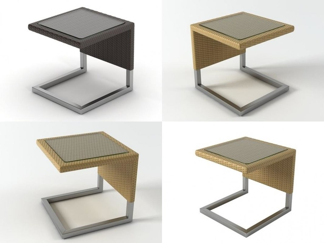 3D luxor table pouf model