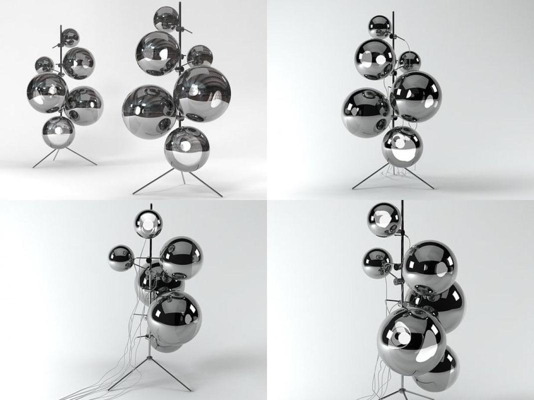mirror ball stand 3D model