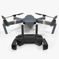 3D dji mavic pro quadcopter model