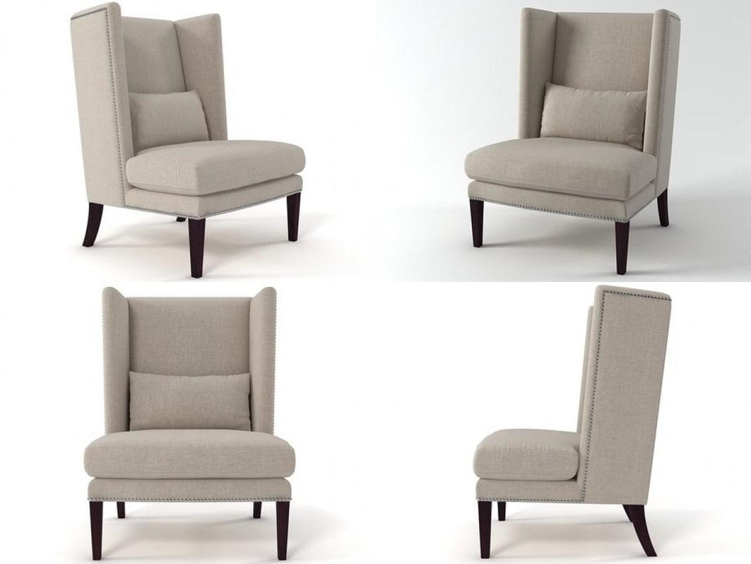 malibu wing chair 3D model