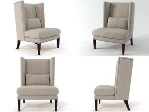 malibu wing chair 3D model
