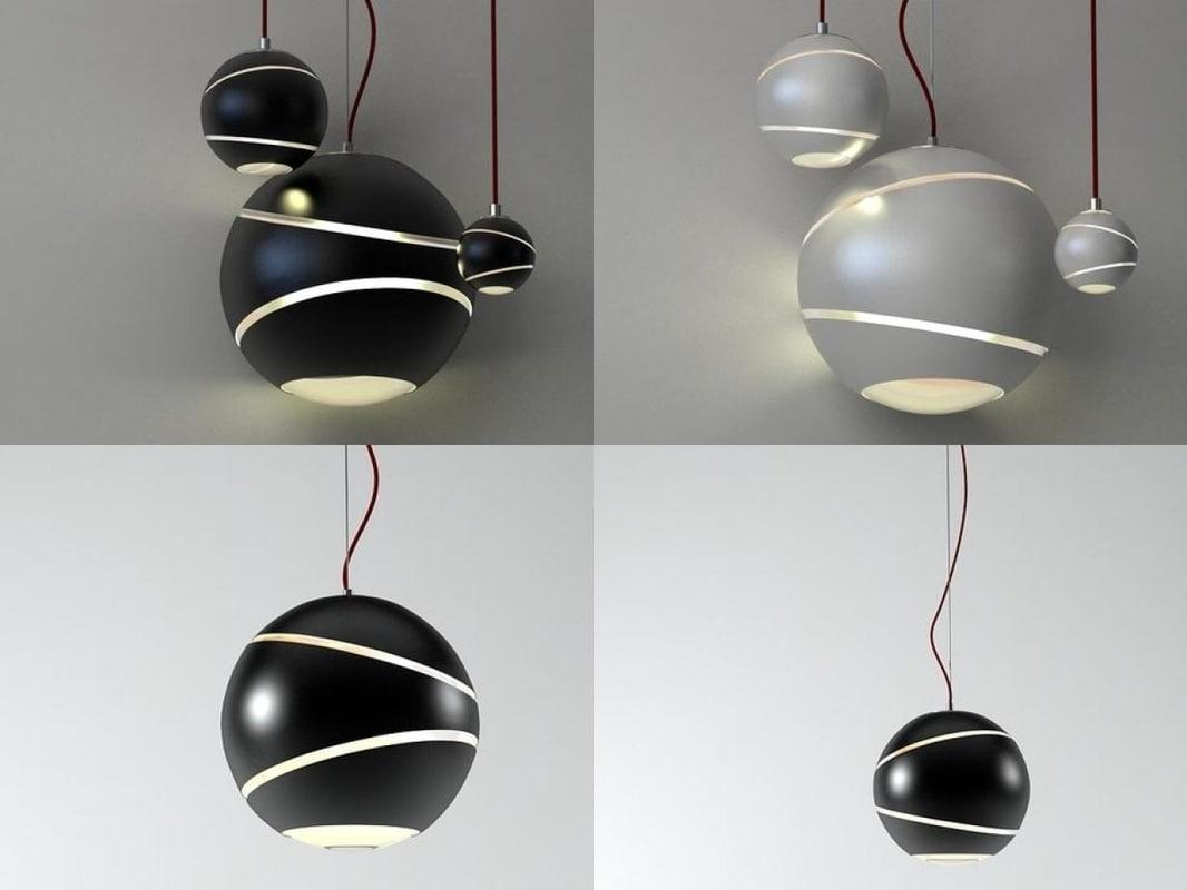 3D bond pendant lamps