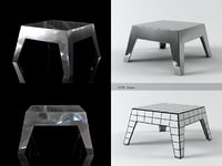 3D basso table model