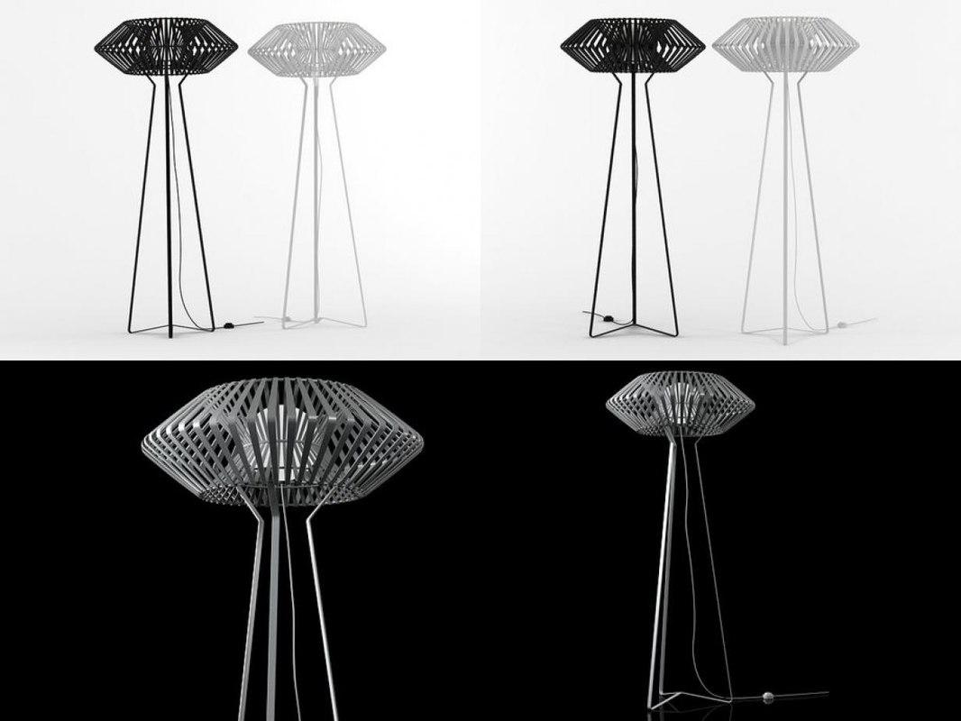 v floor lamp 3D model