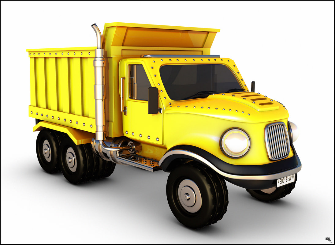truck dump cartoon model