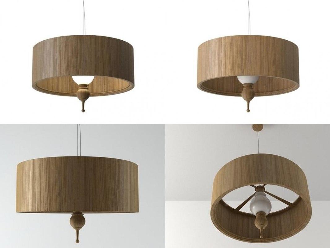 3D tree suspended lamp model