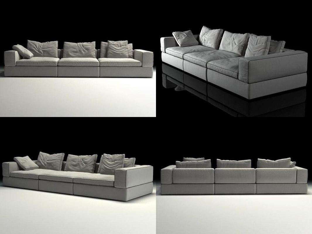 life sofa 3-seat 3D