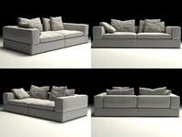 3D life sofa 2-seat