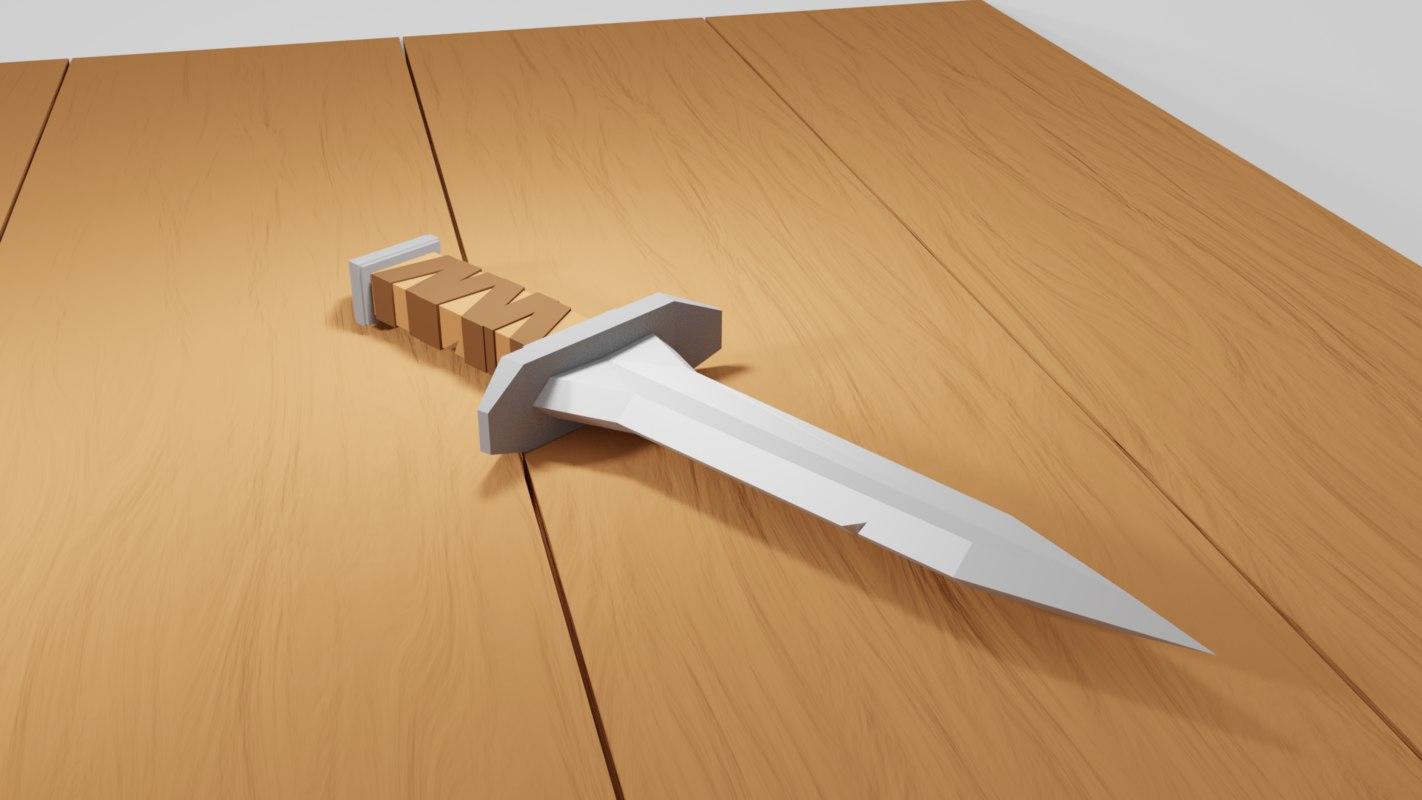 3D blade dagge model