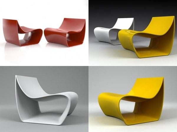 sign armchair 3D model