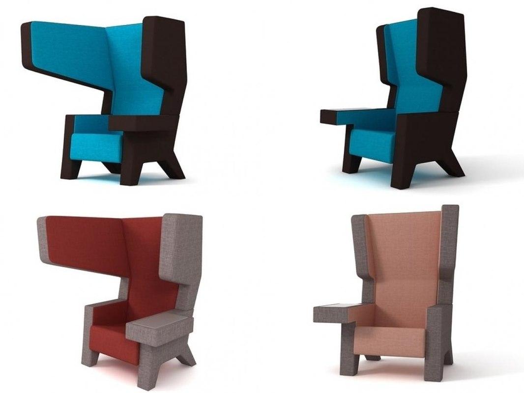 3D ear chair model