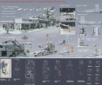 revit project tower complex 3D model