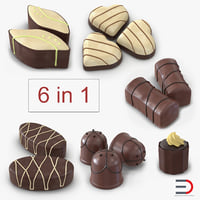 chocolate candies 3D