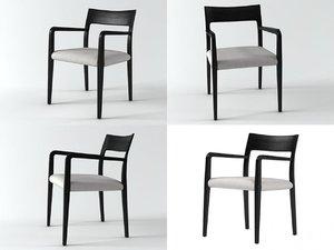 3D flip dining armchair